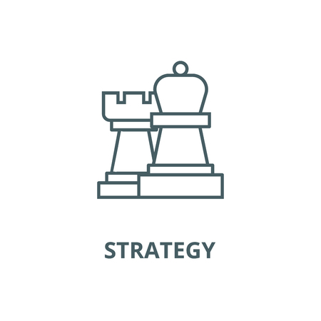 Strategy,chess vector line icon, outline concept, linear sign