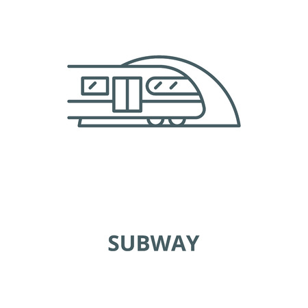 Subway vector line icon, outline concept, linear sign