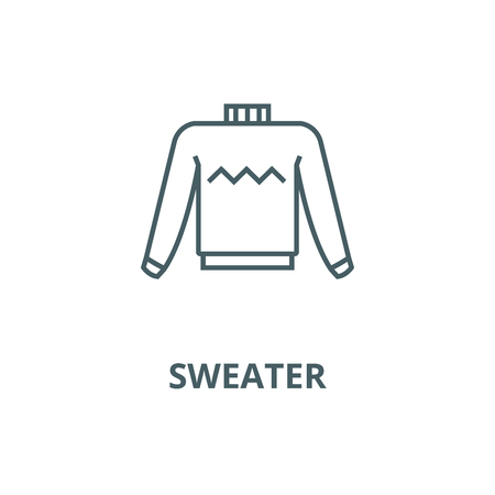 Sweater vector line icon, outline concept, linear sign Illustration