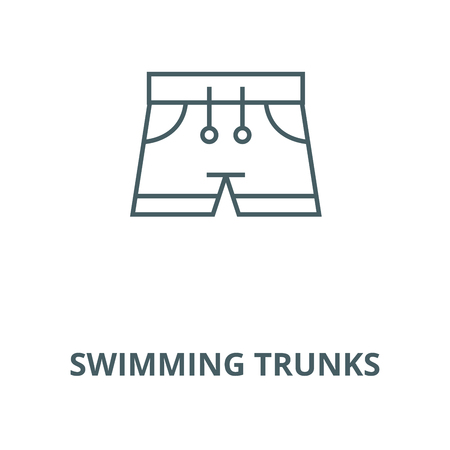 Swimming trunks vector line icon, outline concept, linear sign