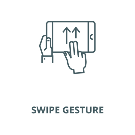 Swipe gesture vector line icon, outline concept, linear sign Standard-Bild - 122288472