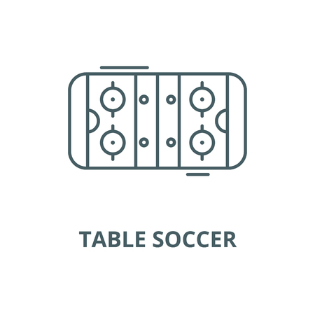 Table soccer vector line icon, outline concept, linear sign
