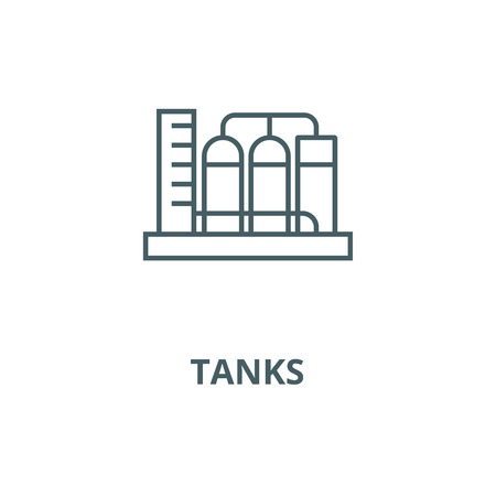 Tanks vector line icon, outline concept, linear sign