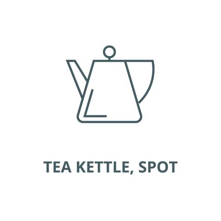 Bouilloire, icône de la ligne du vecteur spot, concept de contour, signe linéaire