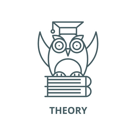Theory vector line icon, outline concept, linear sign