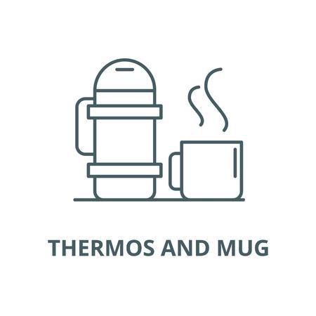 mug vector line icon, outline concept, linear sign Stock Vector - 122415259