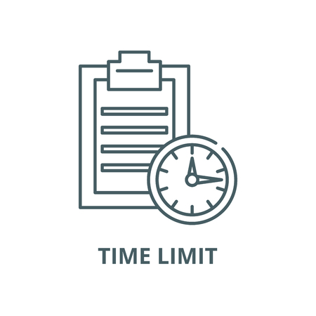 Time limit vector line icon, outline concept, linear sign Illustration