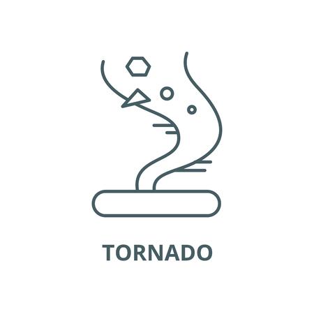Tornado vector line icon, outline concept, linear sign
