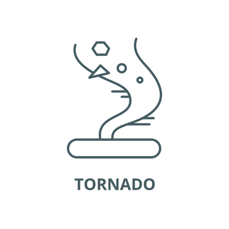 Tornado vector line icon, outline concept, linear sign