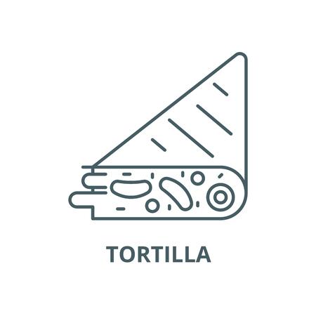 Tortilla vector line icon, outline concept, linear sign