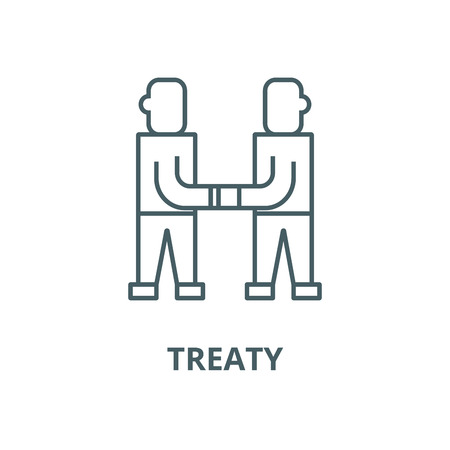 Treaty,arrangement vector line icon, outline concept, linear sign