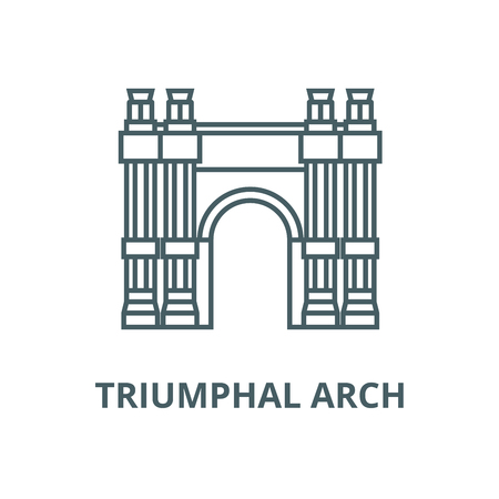 Triumphal arch vector line icon, outline concept, linear sign