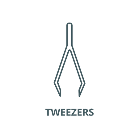 Tweezers vector line icon, outline concept, linear sign Illustration