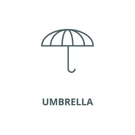 Umbrella vector line icon, outline concept, linear sign