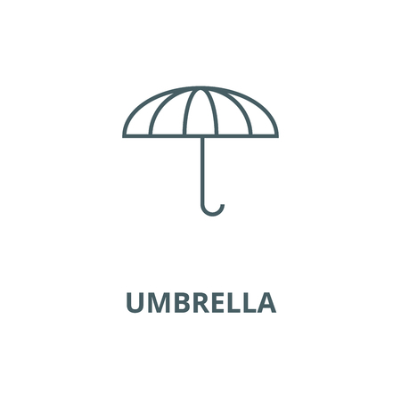 Umbrella vector line icon, outline concept, linear sign