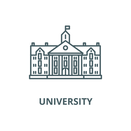 University vector line icon, outline concept, linear sign