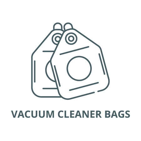 Vacuum cleaner bags vector line icon, outline concept, linear sign  イラスト・ベクター素材