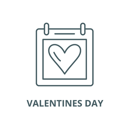 Valentines day vector line icon, outline concept, linear sign Illustration