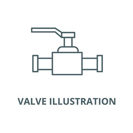 Icône de la ligne du vecteur vanne illustration, concept de contour, signe linéaire