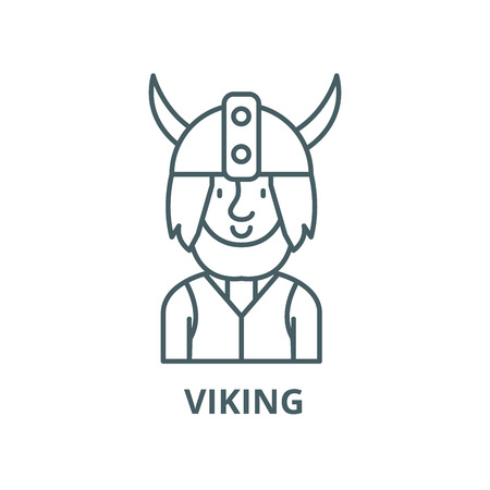 Viking vector line icon, outline concept, linear sign