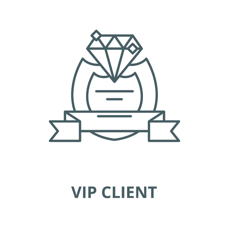 Vip client vector line icon, outline concept, linear sign