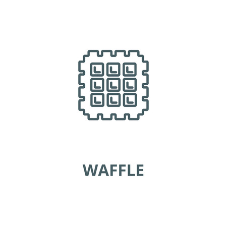 Waffle vector line icon, outline concept, linear sign Illustration