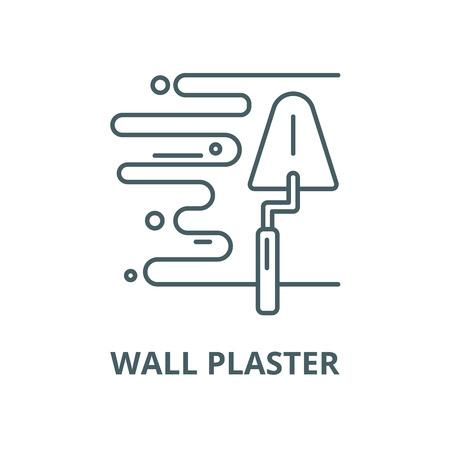 Muur gips vector lijn pictogram, overzicht concept, lineair teken Vector Illustratie