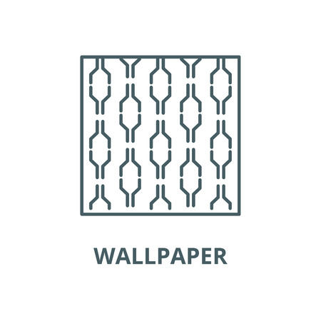 Wallpaper vector line icon, outline concept, linear sign