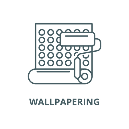 Wallpapering vector line icon, outline concept, linear sign Illustration