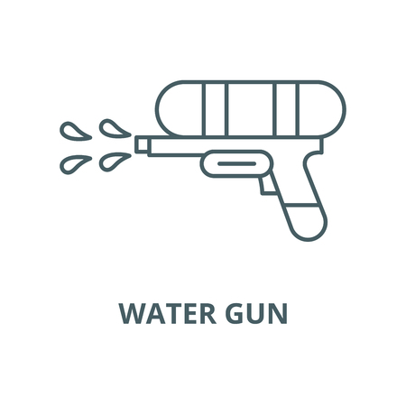 Water gun vector line icon, outline concept, linear sign