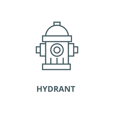 Water tower,hydrant  vector line icon, outline concept, linear sign Illustration