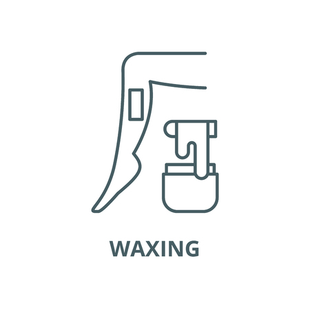 Waxing vector line icon, outline concept, linear sign