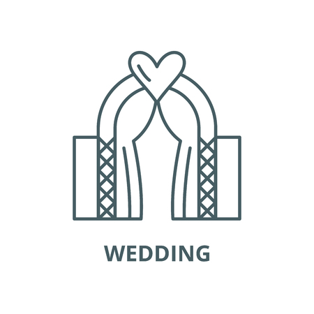 Wedding vector line icon, outline concept, linear sign