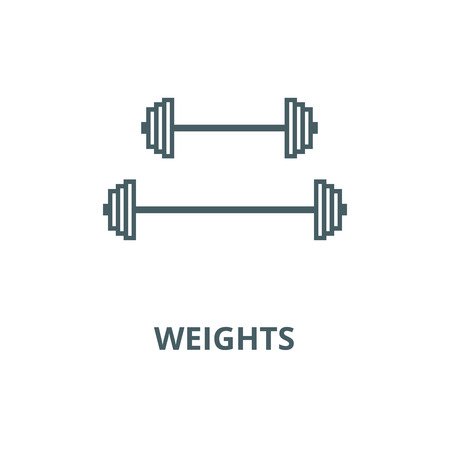 Weights vector line icon, outline concept, linear sign