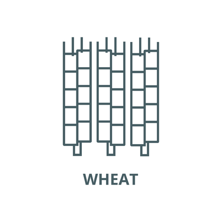 Wheat vector line icon, outline concept, linear sign