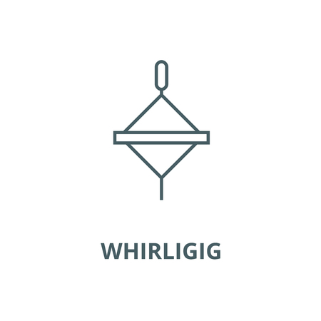 Whirligig vector line icon, outline concept, linear sign