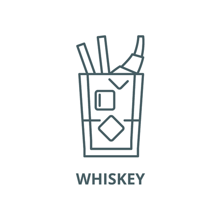 Whiskey vector line icon, outline concept, linear sign