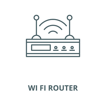 Wi fi router vector line icon, outline concept, linear sign