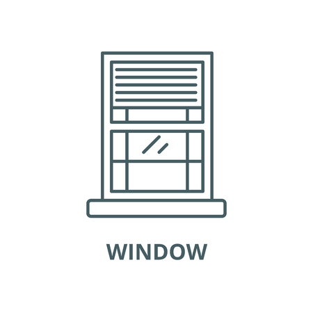 Window vector line icon, outline concept, linear sign