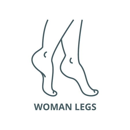 Woman legs vector line icon, outline concept, linear sign