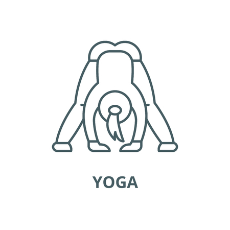 Yoga vector line icon, outline concept, linear sign