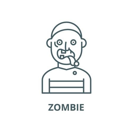 Zombie vector line icon, outline concept, linear sign