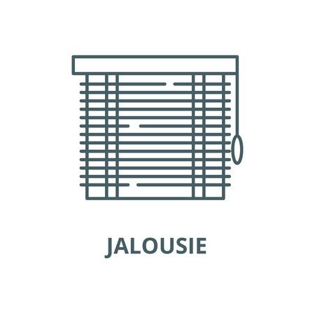 Jalousie vector line icon, outline concept, linear sign Illustration