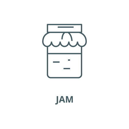 Jam vector line icon, outline concept, linear sign
