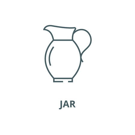Jar vector line icon, outline concept, linear sign
