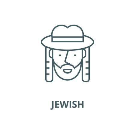 Jewish vector line icon, outline concept, linear sign Banque d'images - 122415815