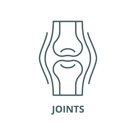 Joints vector line icon, outline concept, linear sign