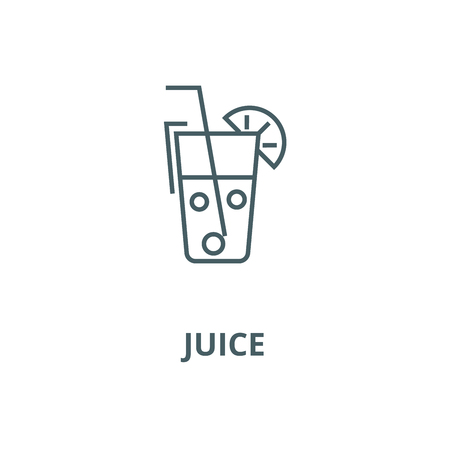 Juice glass,drinks vector line icon, outline concept, linear sign 版權商用圖片 - 122415822