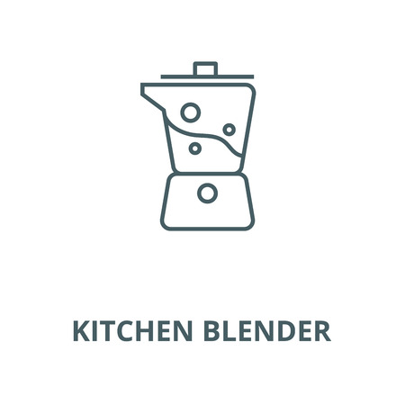 Kitchen blender vector line icon, outline concept, linear sign Illustration
