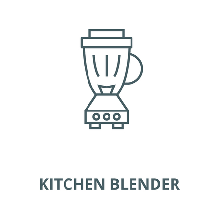 Kitchen blender(2) vector line icon, outline concept, linear sign
